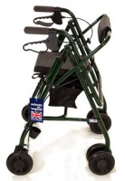 Uniscan Adjustable Glider Plus 4 Wheeled Walker